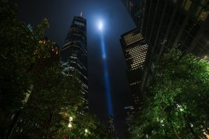 9/11 Tribute in Light tested...