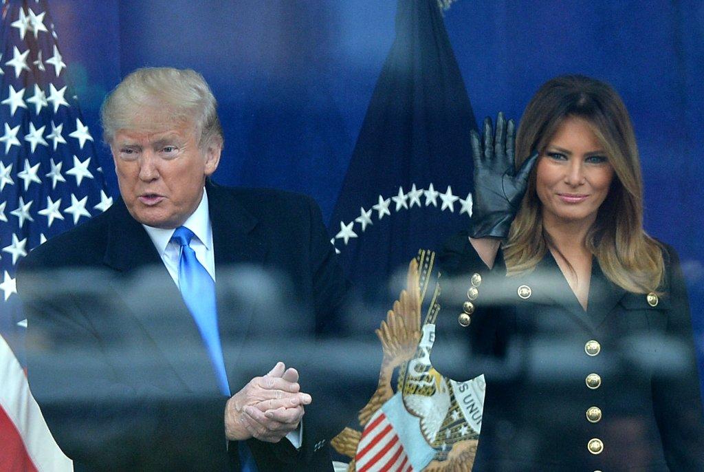 Donald J Trump, Melania Trump in attenda...