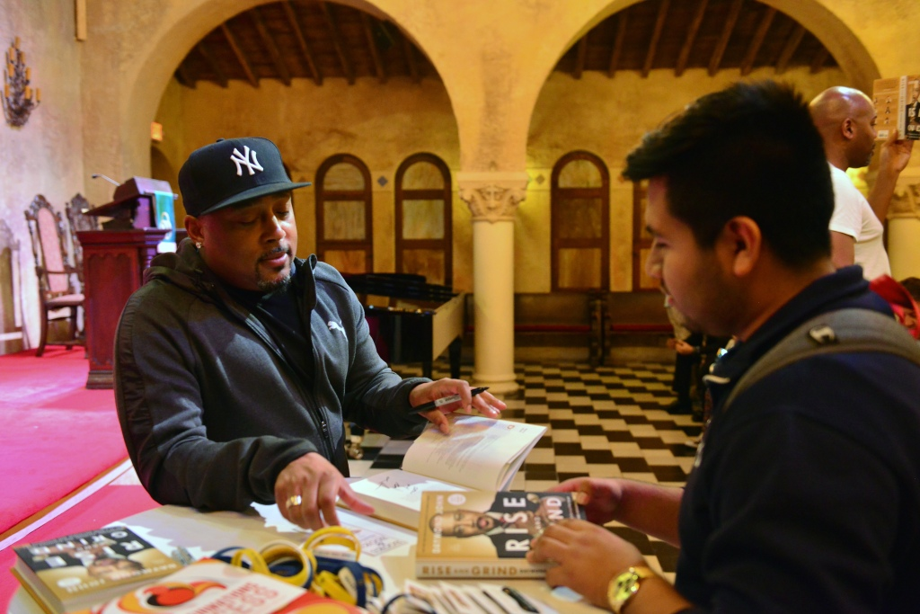 Daymond John signs copies of his new book at Coral Gables Congregational Church