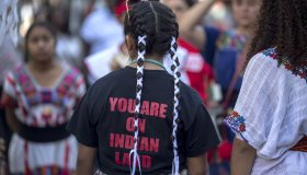 Decision To Mark Columbus Day In L.A. County As Indigenous Peoples Day Starting In 2019 Is Celebrated By Native American Activists