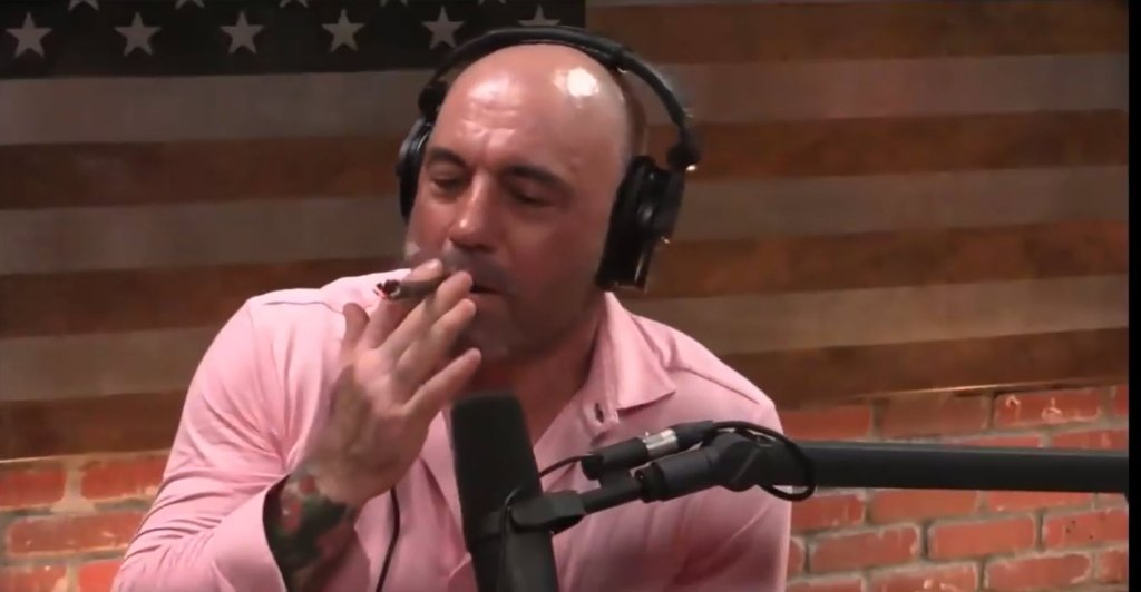 Elon Musk smokes marijuana while filming Joe Rogan Experience podcast