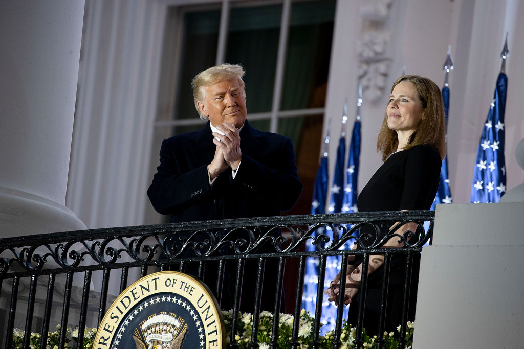 Amy Coney Barrett Sworn In As A Supreme Court Justice At White House Event