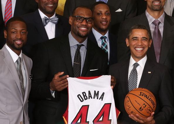 Obama Welcomes NBA Champion Miami Heat To White House