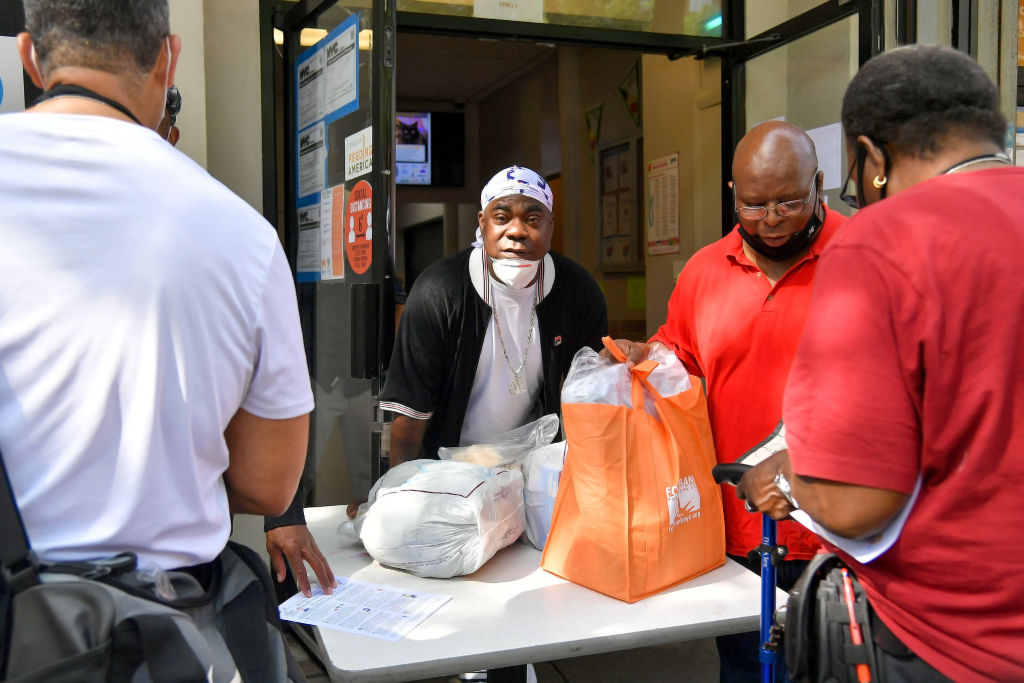 Food Bank For New York City Distributes Essentials To Families In Need For Father's Day