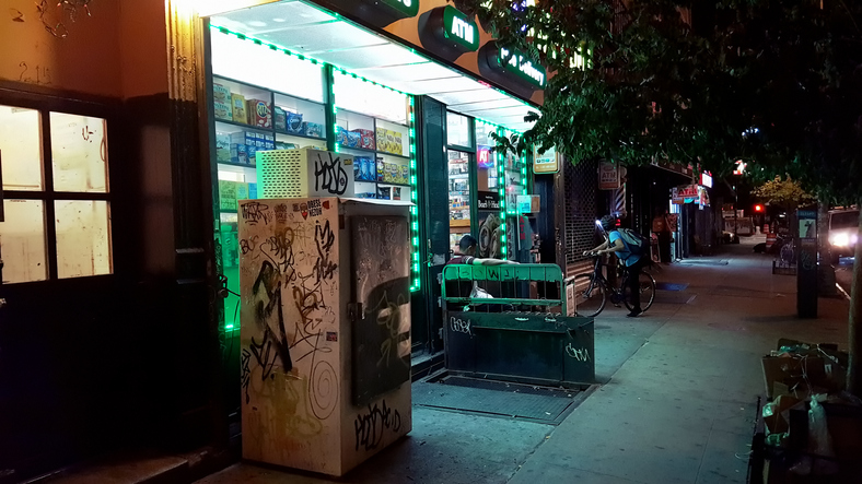 A bodega in the Chelsea area of Manhattan, New York City