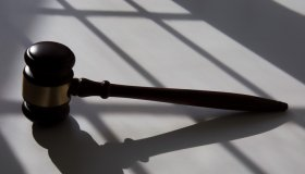 judge's traditional wooden gavel