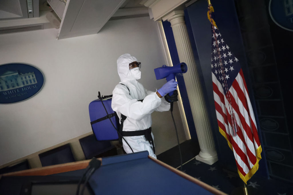 White House Staff Sanitize Press Area After Coronavirus Outbreak