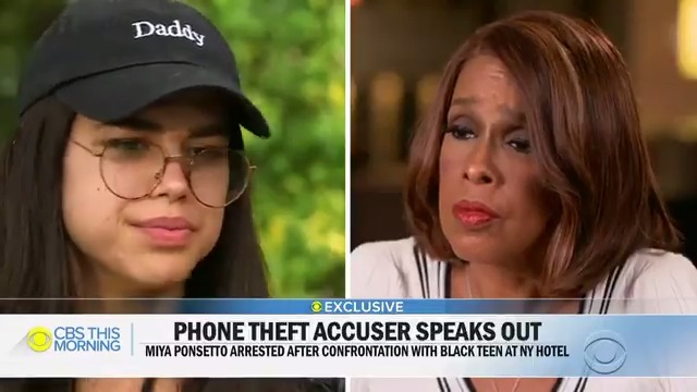 Miya Ponsetto Gets Snappy With Gayle King, Gets Dragged By Daddy Hat