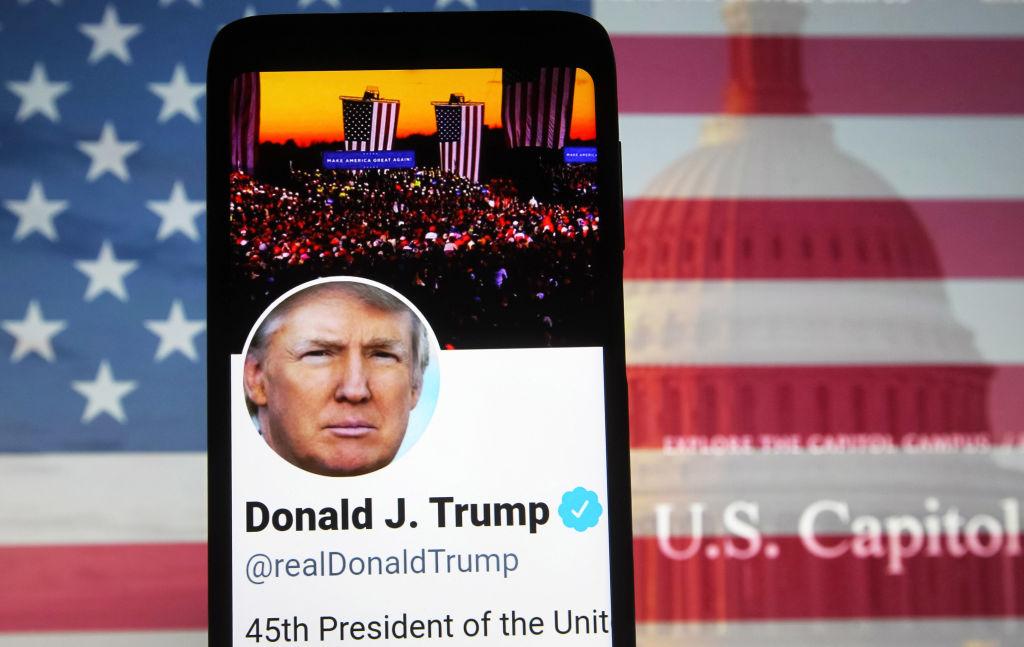 In this photo illustration, U.S. President Donald Trump...