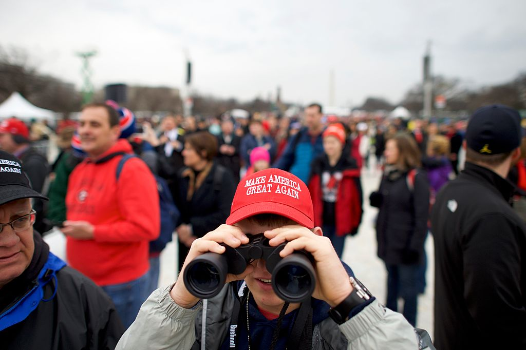 Protesters And Trump Supporters Gather In D.C. For Donald Trump Inauguration