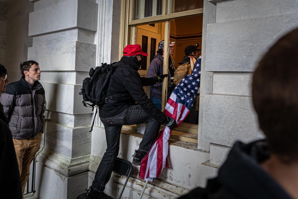 Protester breach the U.S. Capitol building. Pro-Trump...