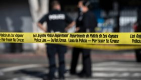 Police Tape Blocks off Hollywood Blvd.