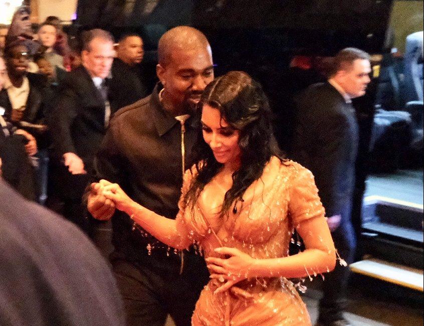 Kim Kardashian and Kanye West show up at Mark Hotel