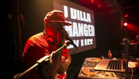 DJ Young RJ performs during the Dillaville Tour in Italy, 2013