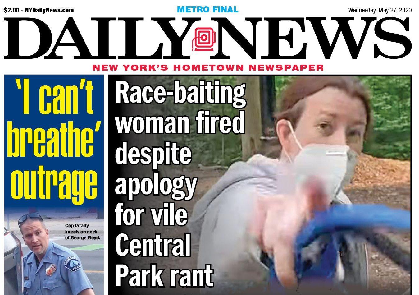 "Charge Against Amy Cooper aka ""Central Park Karen"" Dismissed"