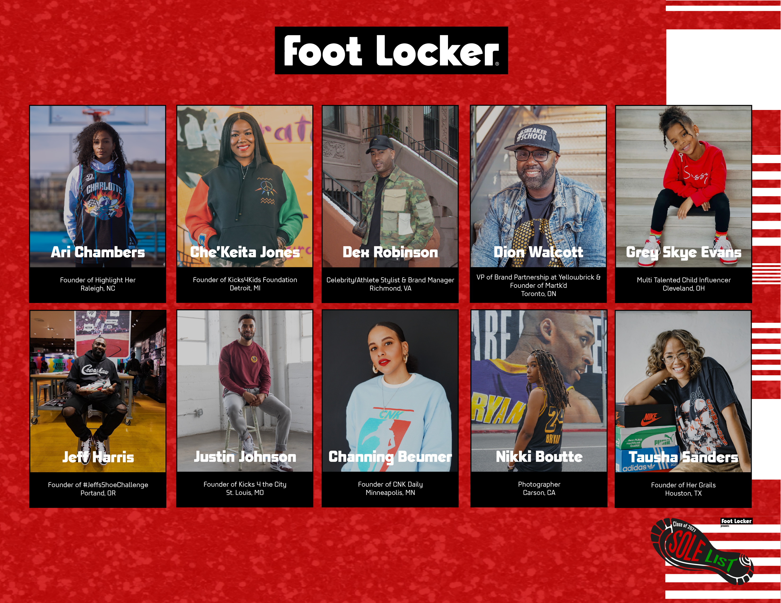 Foot Locker Celebrates Black Sneaker Influencers with 'The Sole List'