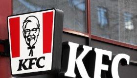 KFC (Kentucky Fried Chicken) logo of the US fast food...