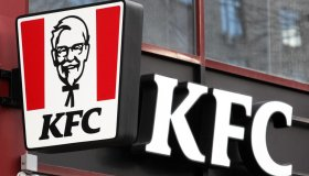 KFC (Kentucky Fried Chicken) logo of the US fast food...