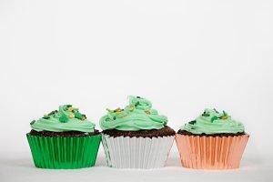 Irish Flag St. Patrick's Day Chocolate Cupcakes
