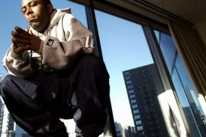 Rapper Black Rob at the offices of Bad Boy Records in Manhat