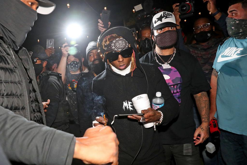 Lil Wayne With DJ Stevie J Perform In Miami