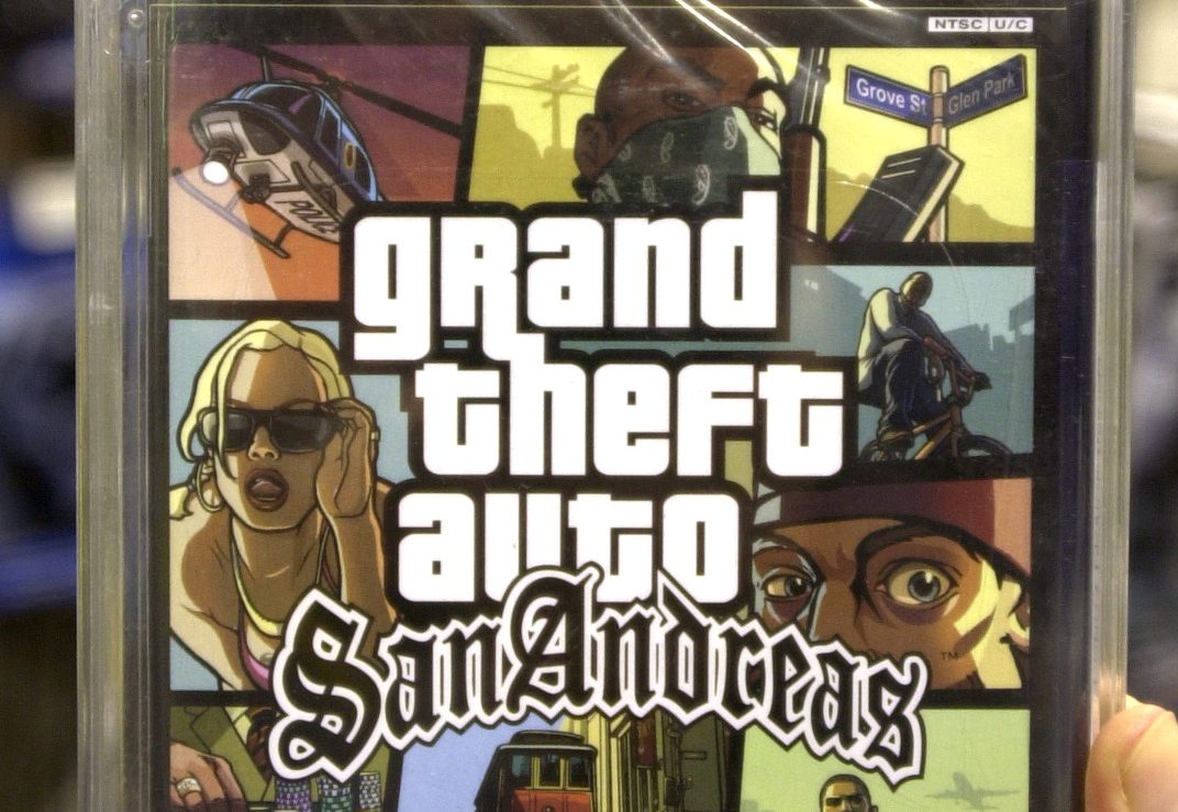 A copy of the Grand Theft Auto video.