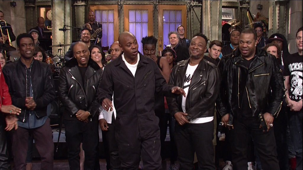 Dave Chappelle hosts and A Tribe Called Quest performs the 42nd season episode 6 NBC's 'Saturday Night Live'