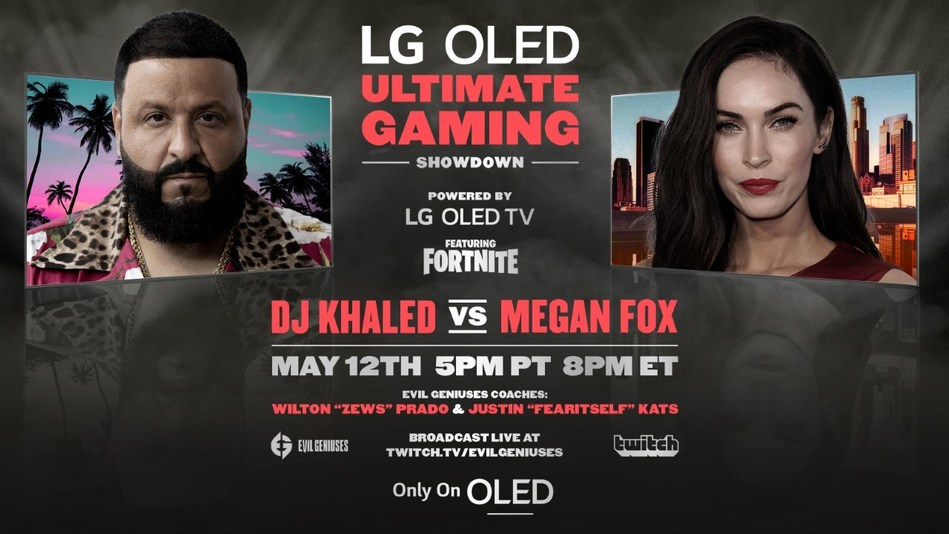 DJ Khaled & Megan Fox Will Play 'Fortnite' For Only On OLED LG Campaign