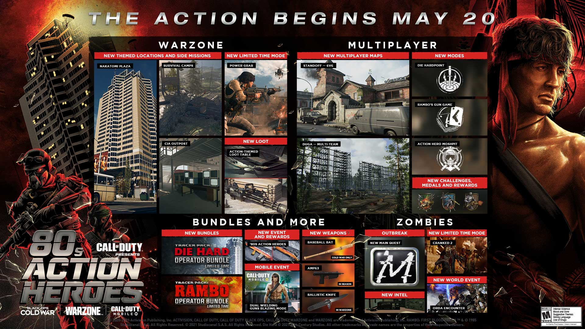 80s Actions Heroes Join Call of Duty