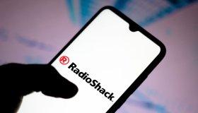 In this photo illustration the RadioShack Corporation logo...