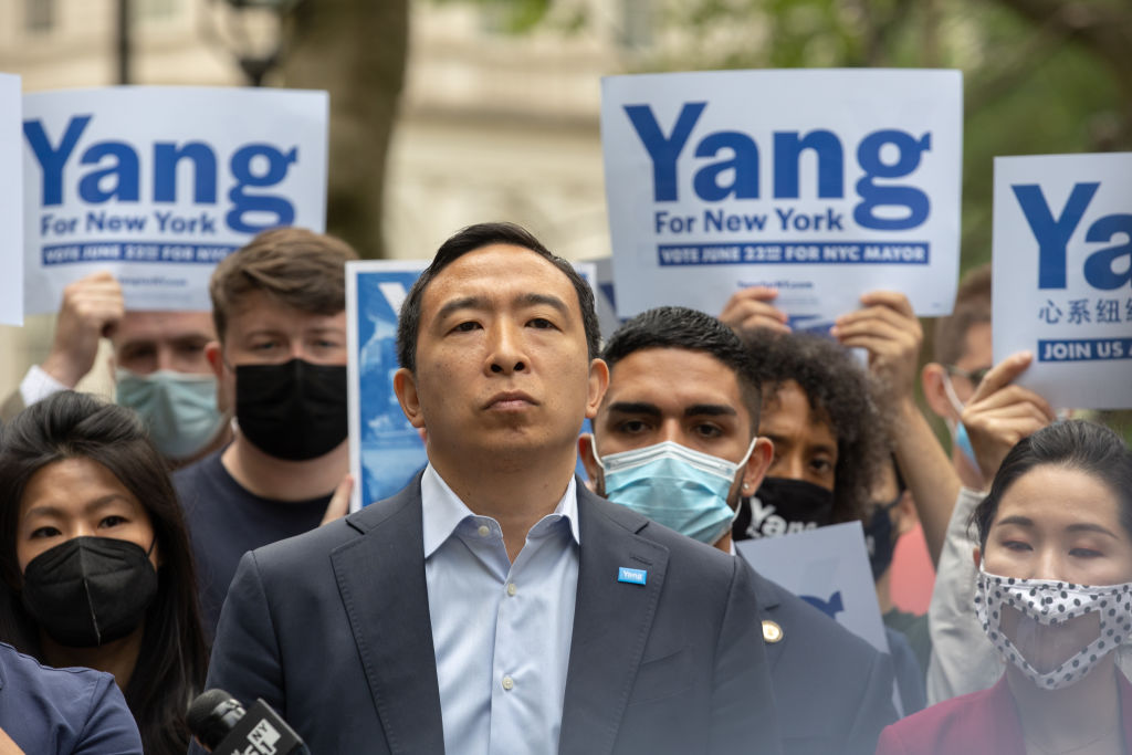 NYC Mayoral Candidate Andrew Yang Campaign Rally