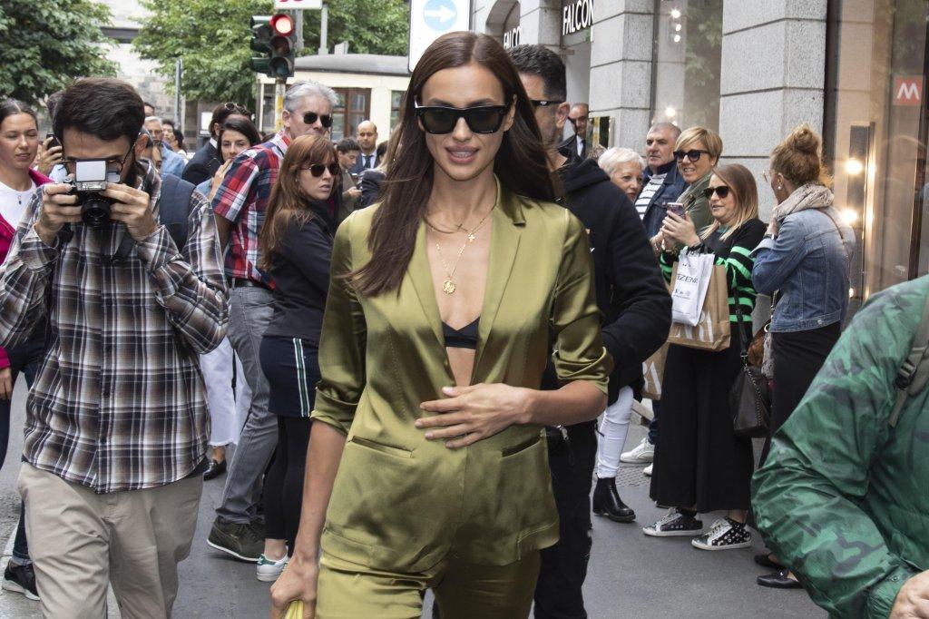 MFW: Irina Shayk visits Falconeri boutique in Via Montenapoleone
