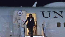 Kamala Harris Arriving At Mexico City