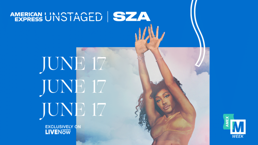 SZA Announced As The Next Artist For American Express' Unstaged Virtual Performance Series