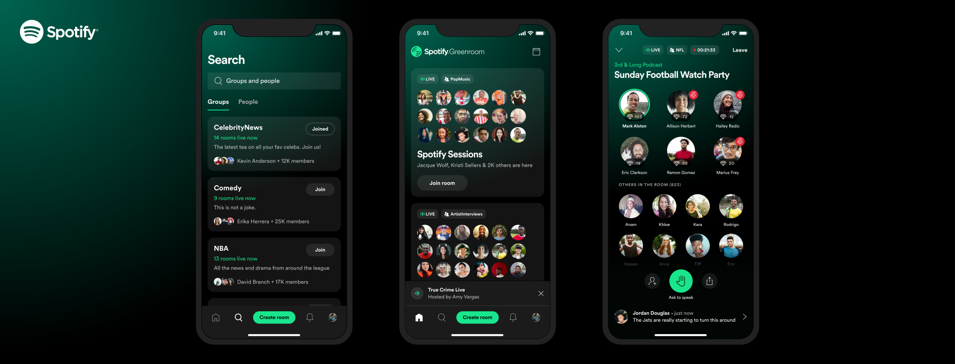 Spotify Launches Its Clubhouse Competitor Called Greenroom
