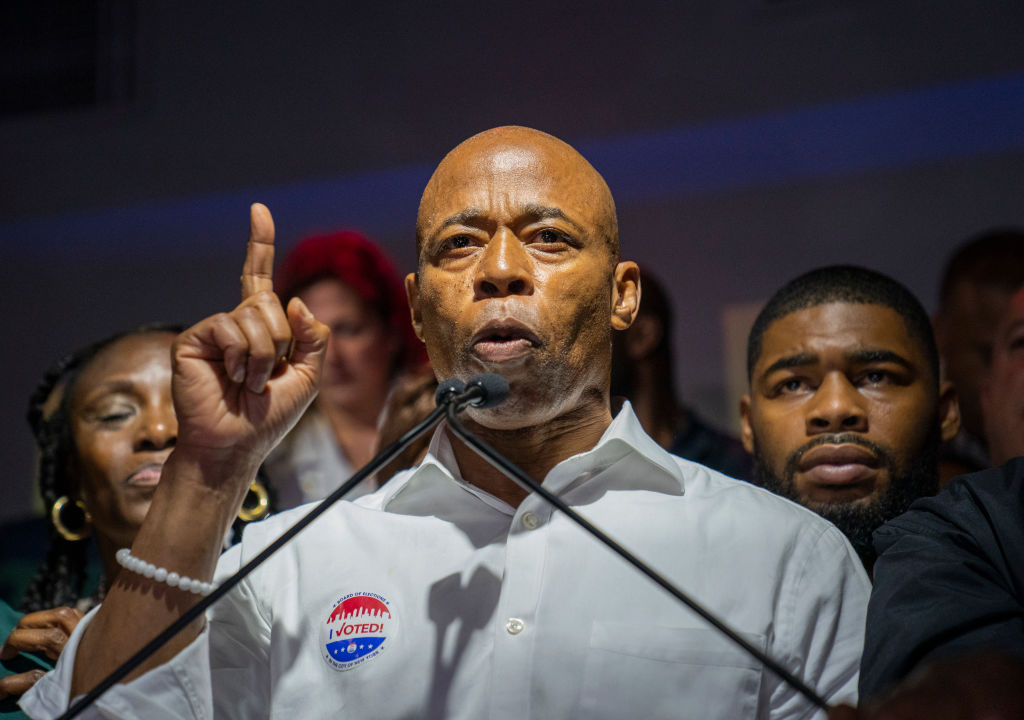 Mayoral Candidate Eric Adams Holds Primary Night Event To Watch Returns