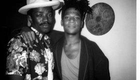 Fred Brathwaite (Fab 5 Freddy) and Jean Michel Basquiat at Anita Sarko's Voodoo Party at the Palladium