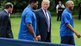 President Donald Trump hosts the White House Sports and Fitness Day