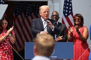Trump's press meeting in Bedminster of New Jersey