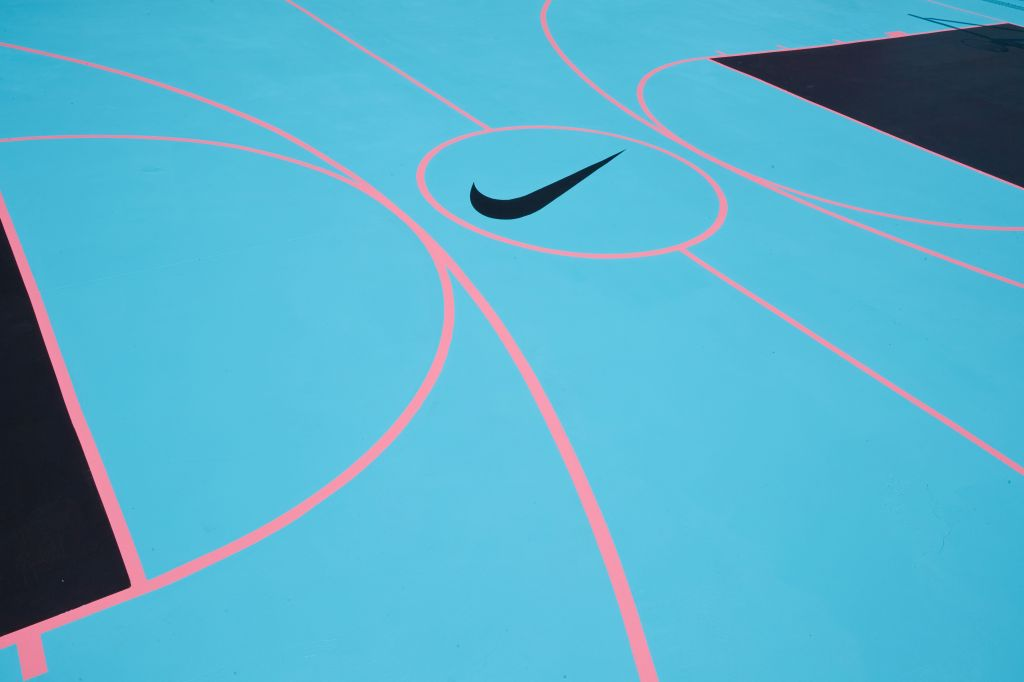 """UNKNWN unveils Nike LeBron 8 """"South Beach"""" 2021 inspired basketball court"""