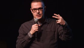 Shaun King, Senior Justice Writer for the New York Daily News, speaks at Penn State Berks as part of their Arts and Lecture Series Wednesday evening November 15, 2017. King is a prominent voice in the Black Lives Matter movement. Photo by Ben Hasty