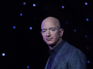 Blue Origin Founder Jeff Bezos Makes Announcement At Satellite 2019 Conference In DC