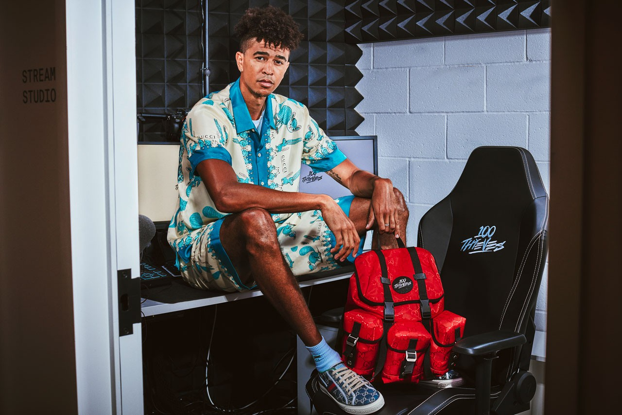 Gucci x 100 Thieves Gaming-Punched Backpack Capsule