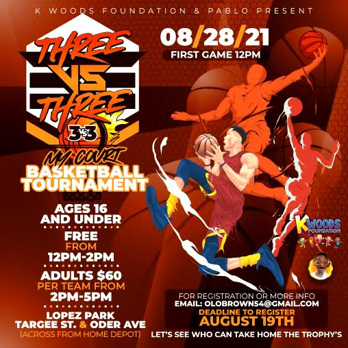 K Woods Foundation To Hold 3-On-3 Basketball Tournament In Park Hill, Staten Island