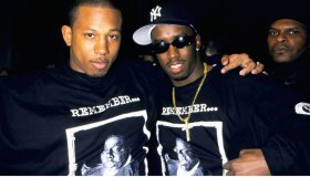 """Sean """"Puffy"""" Combs with rapper """"Shine""""..."""