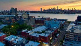 View Over Brooklyn Rooftops at Dusk