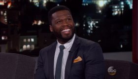 50 Cent during an appearance on ABC's 'Jimmy Kimmel Live!'