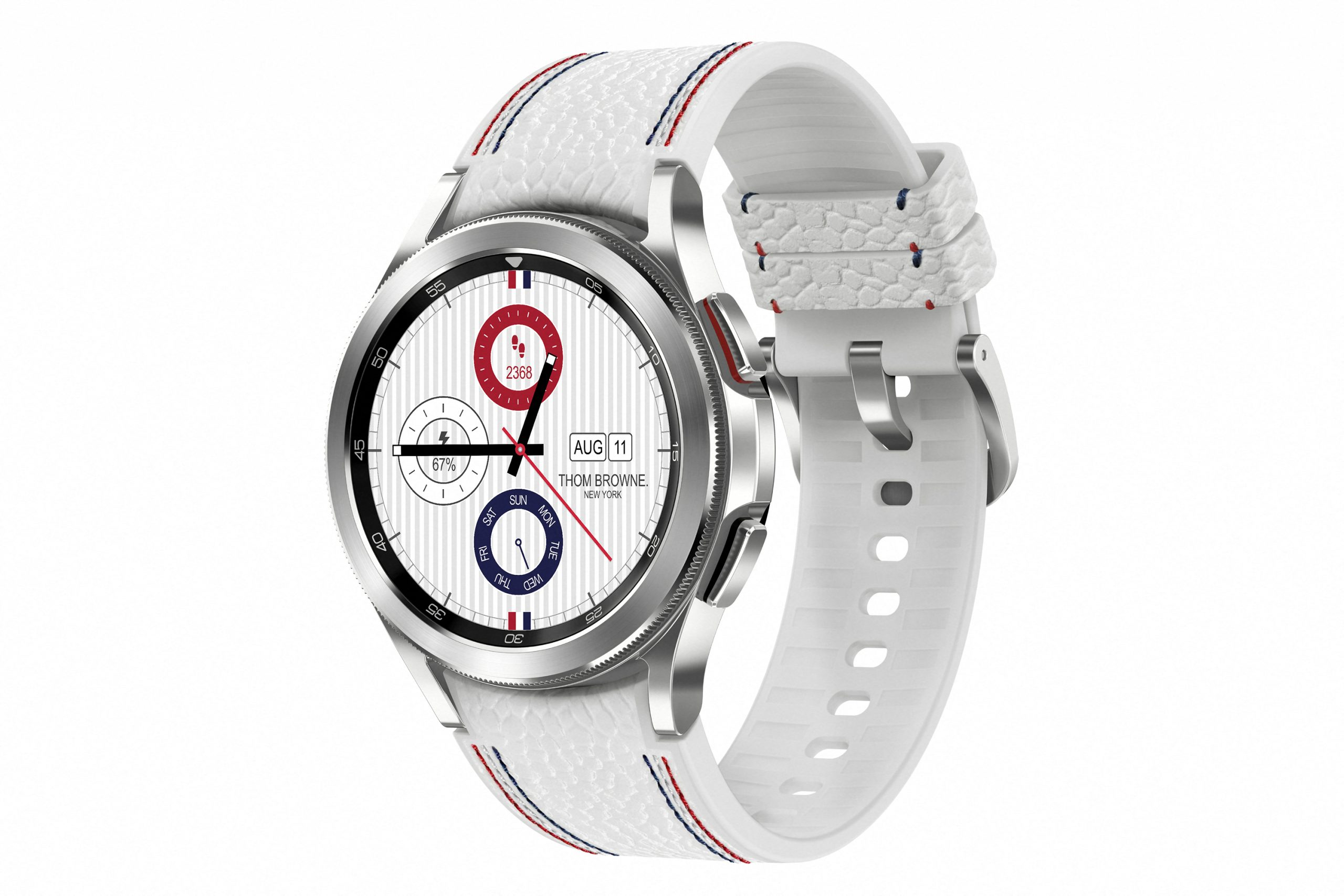 High Fashion Meets Luxury Tech With Samsung's Galaxy Watch4 Classic Thom Browne Edition