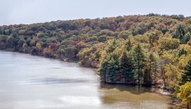 Illinois River in Fall Sunlight