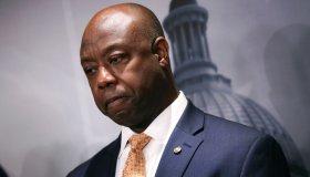 Sen. Cornyn And GOP Senators Hold News Conference On Democrats' Handling Of Current Issues